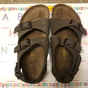 Birkenstock Roma Birkibuc Sandals, Euro 34